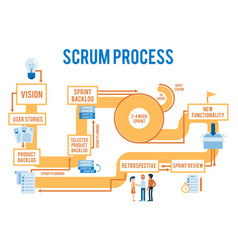 Scrum agile process workflow with stages vector