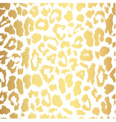 Seamless gold leopard print pattern vector