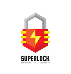security lock - logo template concept vector image