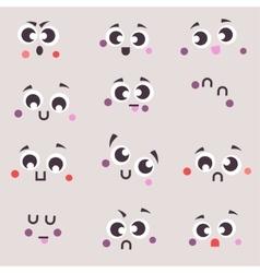 Set cartoon patch badges emoji vector image