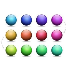 set multi colored balls design element vector image