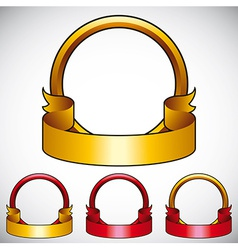 Simplistic round emblem with copy space vector