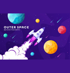 space futuristic modern colorful background vector image