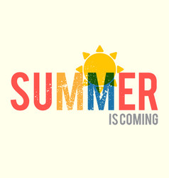 summer is coming poster design template with silk vector image