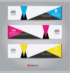 template of banner brochure flyer and card vector image