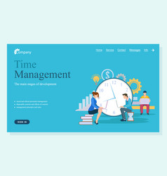 time management website working people webpage vector image