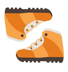 tourist hiking boots icon trekking shoes outdoor vector image