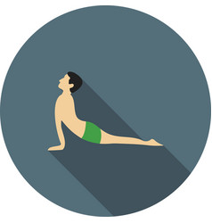 Upward facing dog pose vector