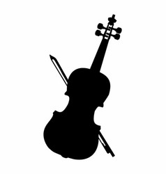 violin dark silhouette vector image