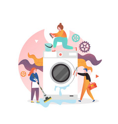 Washing machine repair and service vector