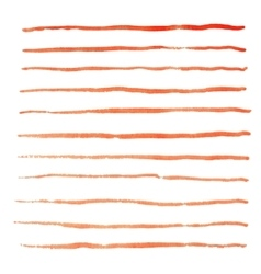 Watercolor stripes strokes vector image vector image