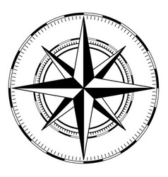 wind rose black and white sign vector image