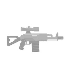 assault rifle icon gun with optical sight vector image