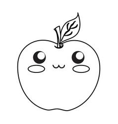 Kawaii fruits design concept vector
