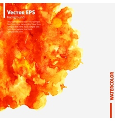 Orange watercolor blot business template vector image vector image
