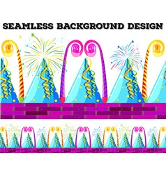 Seamless design with party objects vector image vector image