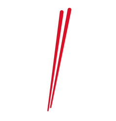 stick wooden food japanese utensil vector image