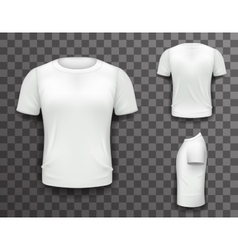 T-shirt Front Side Back View Template Realistic 3d vector image vector image
