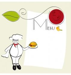 Template for menu vector
