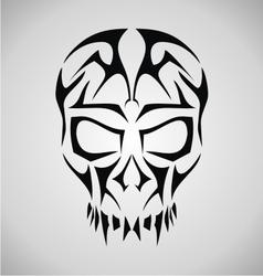 Tribal skull face vector
