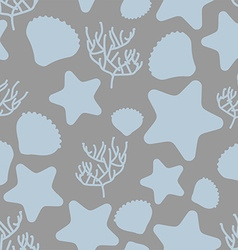 Underwater world seamless pattern Silhouettes of vector image vector image