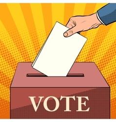 voter ballot box politics elections vector image