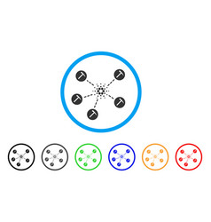 cardano mining network rounded icon vector image vector image