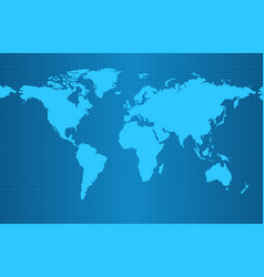 earth map on blue gradient background vector image