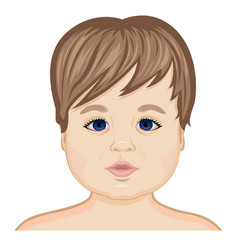 Face of the baby vector