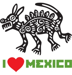 I Love Mexico Template Design vector image