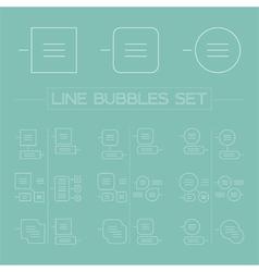 Line bubbles set vector image