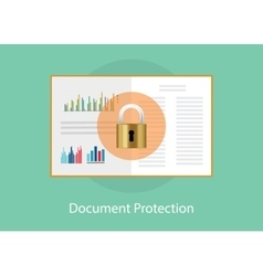 document paper protection with padlock sign vector image
