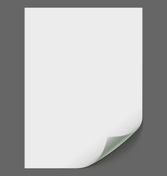 Empty paper sheet vector image