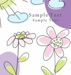 hand drawn card vector image