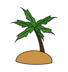 Isolated palm tree design vector image