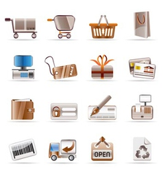 online shop and web site icons vector image vector image