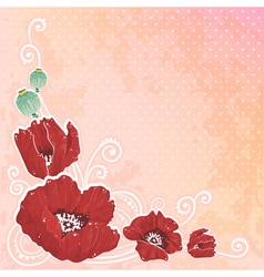 Beautiful spring floral postcard vector image vector image