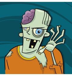 cartoon zombie vector image vector image