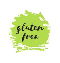 gluten free round stamp logo or sign vector image