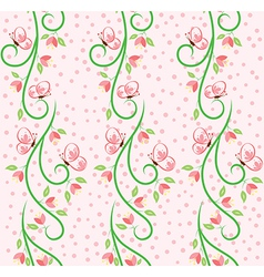 Swirl Nature Butterfly Pattern 1 vector image