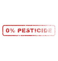 0 percent pesticide rubber stamp vector image
