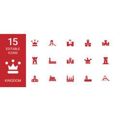 15 kingdom icons vector image
