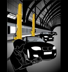 a mechanic technician car automobile repair at vector image