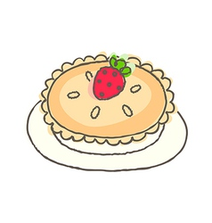 A pie is placed vector