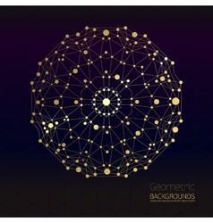 Abstract geometric gold lattice the scope of vector
