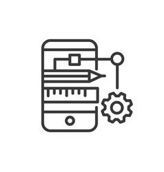 app developing - modern line design icon vector image