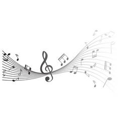 background design with music notes vector image