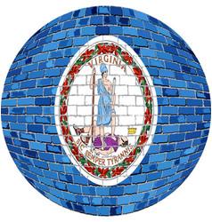 Ball with virginia flag vector