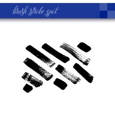 black ink abstract hand drawing brush strokes spot vector image