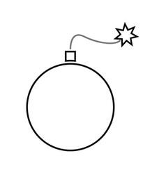 bomb black color icon vector image